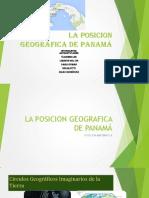 LA POSICION GEOGRAFICA DE PANAMÁ