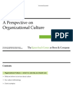 A Perspective on Organizational Culture - Booz&Co