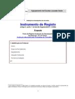 Fichas registo de Avaliação Executivo