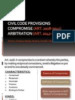ADR Civil Code Provisions