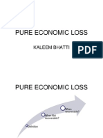 Tort Pure Ecnomic Loss