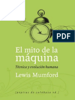 Mumford, Lewis - El mito de la máquina Tecnica y evolucion humana (1967)