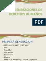 Generaciones de Derechos Humanos