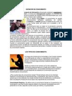 DEFINICIÓN DE CONOCIMIENTO