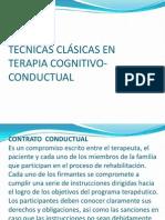 TÉCNICAS CLÁSICAS EN TERAPIA COGNITIVO-CONDUCTUAL