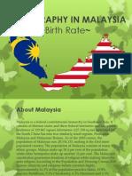 Demography in Malaysia