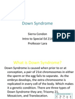 Down Syndrome-Sierra C. Fact Sheet