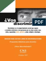 Propuesta Didactica Docentes Vos Discriminas