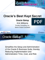 Best Secret - using Oracle iSetup