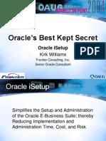 Best Secret - using Oracle iSetup