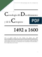 Cronología del Descubrimiento y Conquista de América