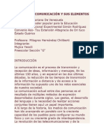 PROCESO DE COMUNICACIÓN Y SUS ELEMENTOS