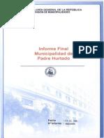 Municipalidad Informe Final Auditoria de Recursos Humanos Efectuada en El Departamento de Salud