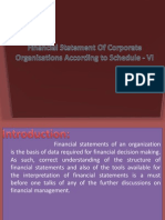 Statements Corporate Org. &Balance Sheet
