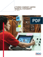 Sample Manufacturing Company Consolidated Financial Statements