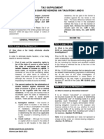 Supplement to PM Reyes Bar Reviewer on Taxation I and II