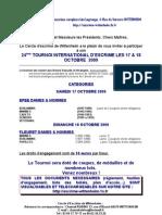 Annonce + Inscription Tournoi 2009