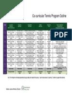 tennis program outline