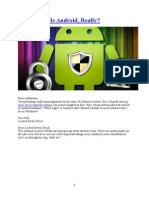 Android Security From Different Perspective
