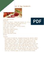 Panini Pepperoni & Egg Sandwich.