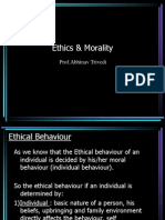 The relation between Ethics & Morality