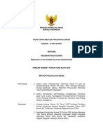 PERMEN 16 Pedoman Penyusunan RTRW Kabupaten
