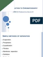 Intro to Chromatography Sp'14
