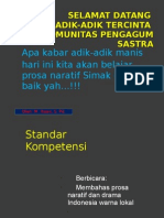 Prosa Naratif Drama Indonesia