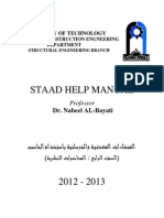 Staad Help Manual