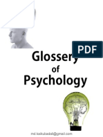 Glossary of Psychology