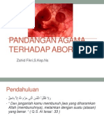 Pandangan Agama Terhadap Aborsi