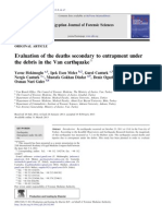 Evaluation of the Deaths Secondary to Entrapment Under the Debris in the Van Earthquake