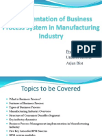Implementation of business process in manufacturing industry