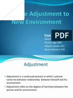 effective adjustment to new environment