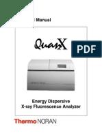 Quanx Energy Dispersive X-ray Fluorescence Analyzer Manual