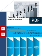 Financial Planning- Putting Together Sales and Expenditure Budget