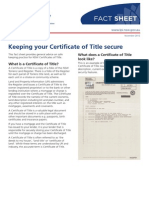 Keep Certificate of Title Secure