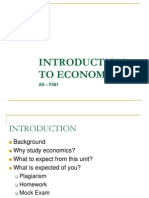 Introduction to Economics Week