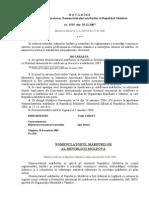 Hotarirea Guvernuuli Cu Privirea La Aprobarea Nomenclatorului Marfurilor