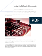 Optical Engines Bring Terabit Bandwidth on a Card
