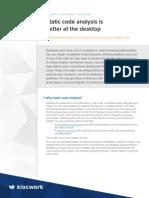 Klocwork Paper Sca Better at Desktop