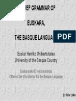 Euskara Grammar