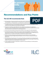 Linking state pension age to longevity - key points and recommendations