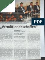 """""""Vermittler abschaffen"""", Artikel in der AHGZ 12.2013"""