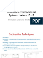 Biomicroelectromechanical Systems- Lecture 10 -13