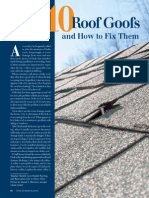 10 Roof Goofs and How to Fix Them. Flashing Installation