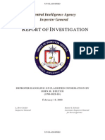 CIA - Improper Handling of Classified Information by John M. Deutch