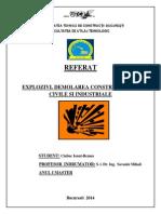 Explozivi. Demolarea Constructiilor Civile Si Industriale Cu Ajutorul Explozibililor