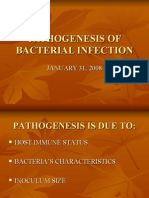 PATHOGENESIS OF BACTERIAL INFECTION