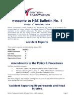 British Taekwondo's Most Recent Health & Safety Bulletin